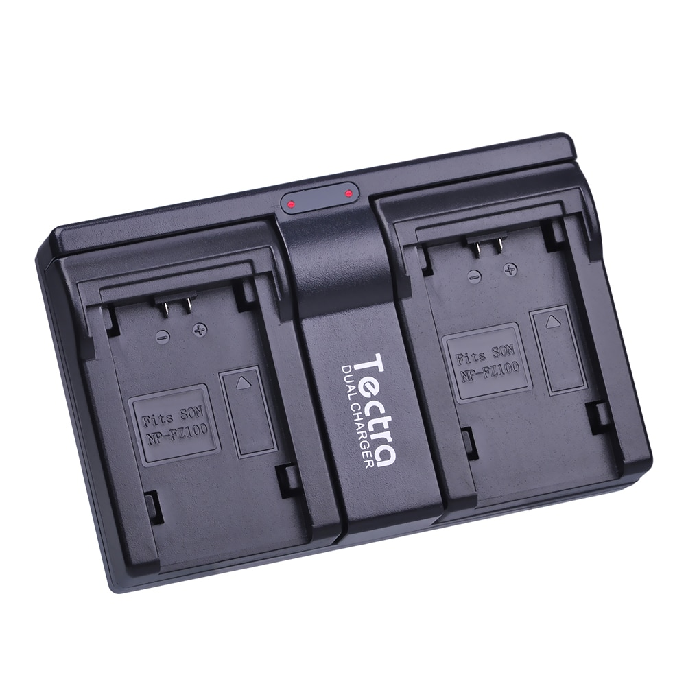 Tectra NP FZ100 NP-FZ100 NPFZ100 cargador USB de 2 canales para Sony ILCE-9, BC-QZ1, a7r3, A7RIII, ILCE-7RM3, A9R, 7RM3, cámara