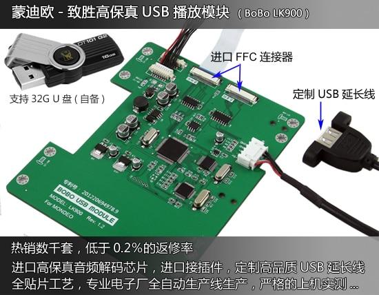 Free shipping USB player module (LK900 BoBo) - Lossless CD