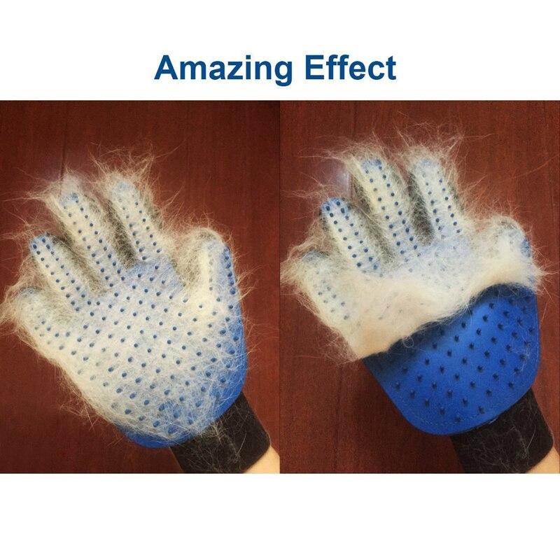 Cómodo cepillo de aseo para mascotas guante de peine para gato Animal perro mascota guantes de pelo cepillo de baño herramienta de masaje de limpieza