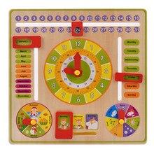 Bambino Giocattolo Di Legno Per Bambini Learning Developmental Multifunzione Lembo Abaco Orologio In Legno Per Bambini Intelligenza Giocattolo Educativo Regalo
