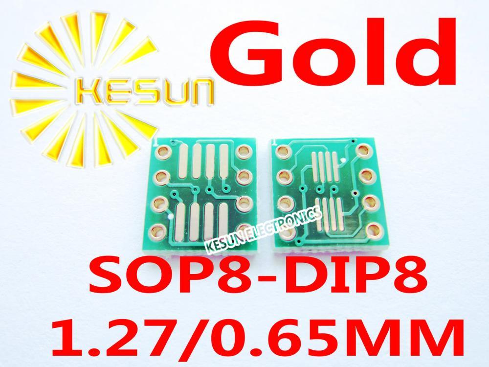 40 Uds chapados en oro SO8 MSOP8 SOIC8 TSSOP8 SOP8 a DIP8 adaptador de circuito integrado adaptador de enchufe placa PCB sin conector de pines