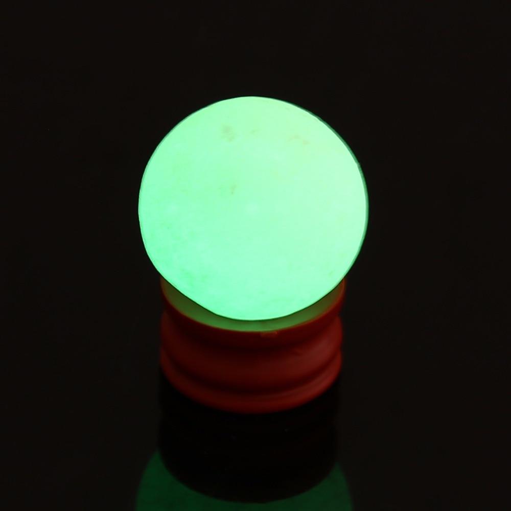 35mm Natural Luminous Stone Calcite Green Glow in the Dark Sphere Ball Luminous Crystal Ball W/ Base Round Stone Ball Home Decor