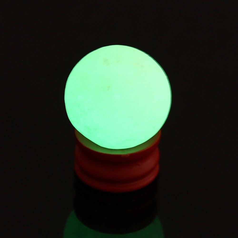 35mm Piedra Natural luminosa calcita verde resplandor en la esfera oscura bola de cristal luminosa con Base redonda BOLA DE PIEDRA decoración del hogar