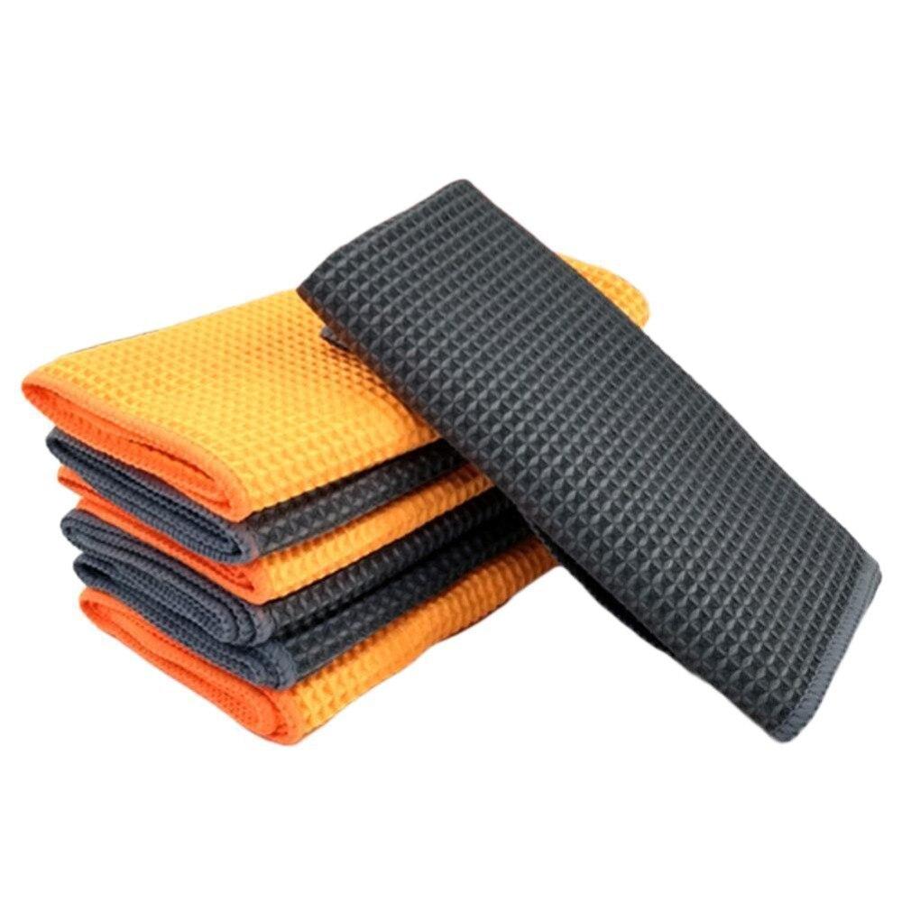 Toalla de microfibra suave para limpieza de coches, paño de limpieza para el cuidado del coche, toallas de microfibra para pulido de cera 40x40cm nuevas