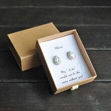 Boucles doreilles de demoiselle dhonneur   Boucles doreilles personnalisées, boucles doreilles de mariage, en zircone cubique, cadeau pour elle