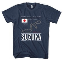Suzuka Circuit Tee, Ras, Spoor, Japan, Import, Jdm, Impreza, Evo, skyline 2019 Nieuwe Collectie T-Shirt Casual Mannen Nerd T-shirts