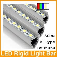 Best Price!!! 4pcs LED rigid bar lights cabinet strip light 50cm 30LEDs IP20 12V SMD 5050 RGB and six single color