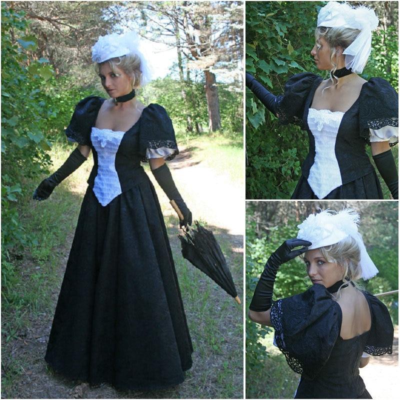 Custom made V-12269 1860S Victorian Gothic/Civil War Southern Belle Ball Gown Dress Halloween dresses