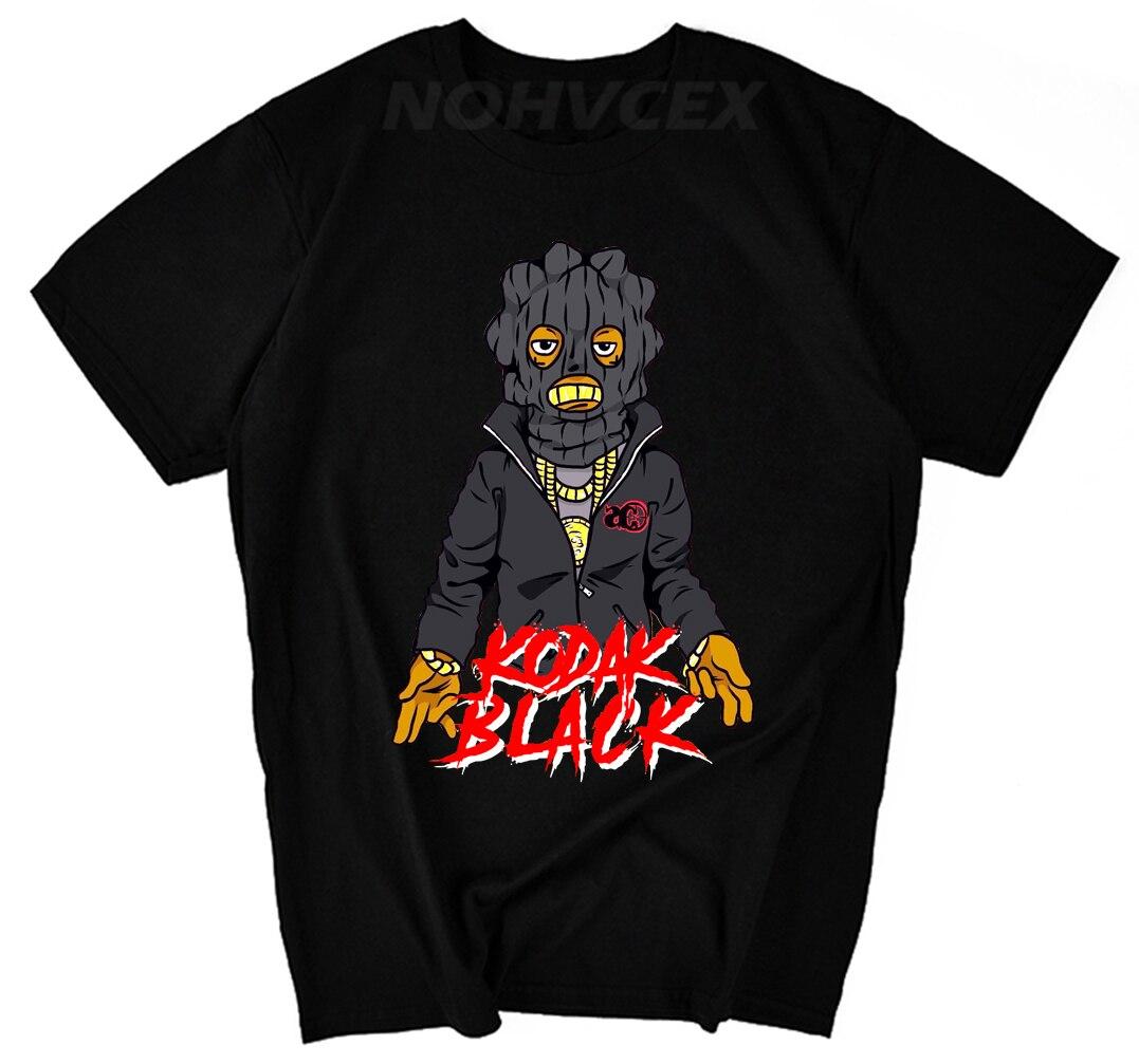 T-shirt en coton à manches courtes dété col rond hommes gratuit Kodak noir projet de musique t-shirt