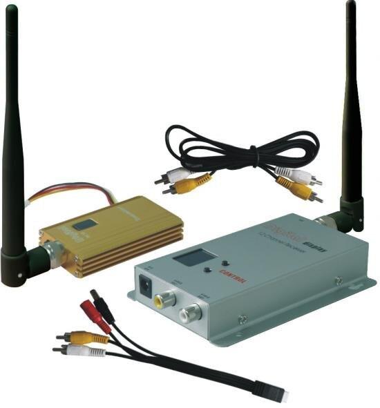 Alta calidad 1,2 GHz Drone AV Transmisor 1500mW transmisor de vídeo inalámbrico con 8 canales, 3000m vídeo FPV transceptor 1200mW
