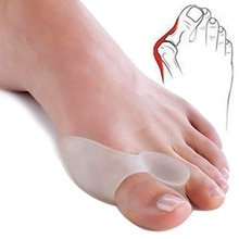 2Pcs=1Pair Silicone Toes Separator Bunion Bone Ectropion Adjuster Toes Outer Appliance Foot Care Too