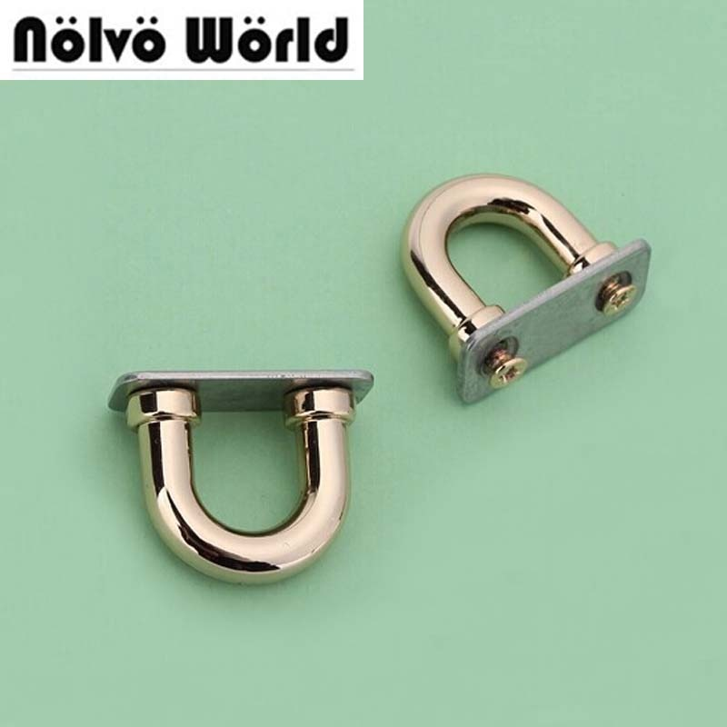 30 Uds 4 colores fuera 20*18,2mm interior 3/8 pulgadas coser bolsos Correa metal accesorios conector percha