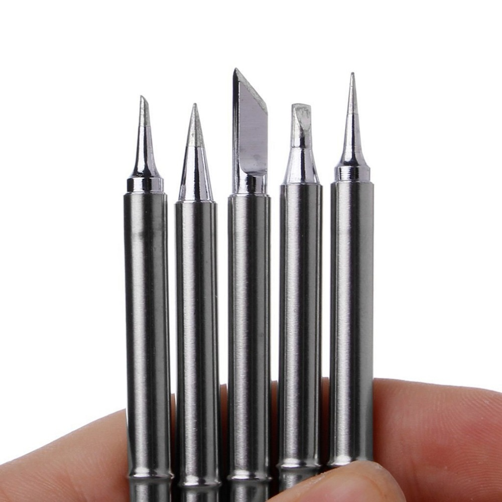 5pcs Soldering Tip Lead-Free Iron Tips Set T12-BL T12-K T12-ILS T12-BCI T12-D24 Welding Head For Hakko FX951 BAKON 950D 24V 75W