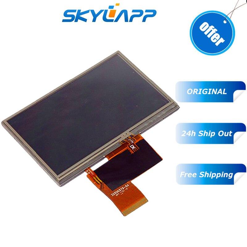 Original 4,3 ''inch LCD pantalla de visualización de 40PIN 32000579-04 AT043TN24 V.1 AT043TN24 V.7 GPS completo LCD pantalla táctil envío gratis