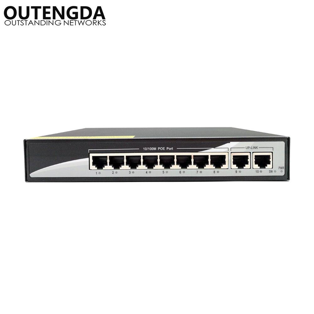 8 2 interruptor de potencia de 100mbps poe porta ethernet 2 portas uplink de 20gbps