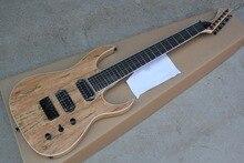 Spalted top schwarz maschine 7 saiten e-gitarre natur holz 7 string custom shop gitarre freies verschiffen KSG kevin shi gitarren