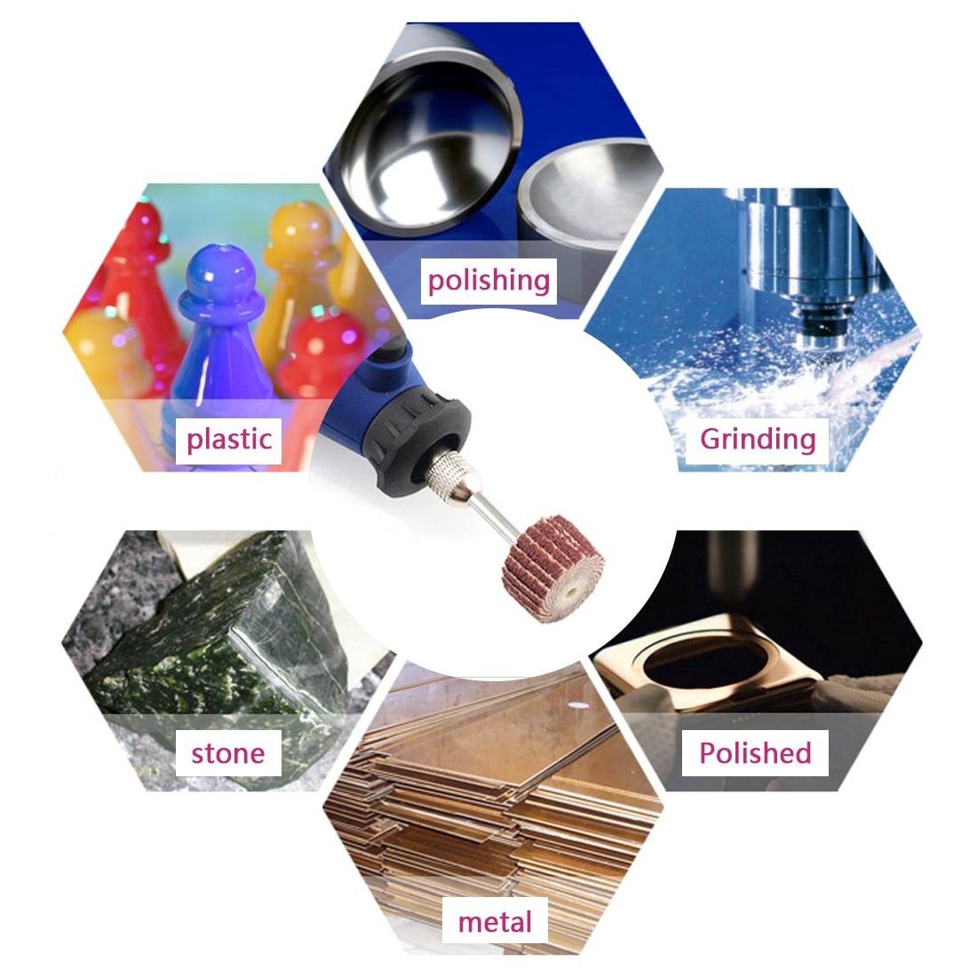 10ks 10-20 mm Příslušenství brusného papíru Dremel, lešticí - Brusné nástroje - Fotografie 5