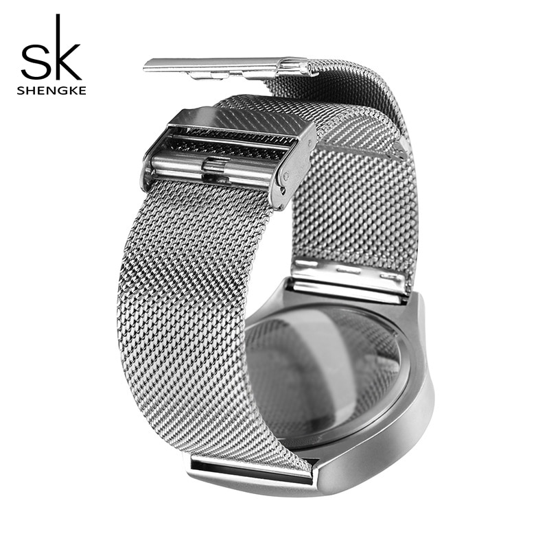 Shengke Creative Sports Quartz Women Girl Watch Stainless Steel Men Boy Watch Reloj Mujer 2019 SK Creative Women Quartz Watch enlarge