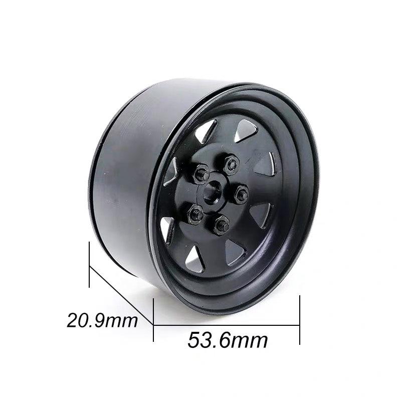 4pcs 1/10  Metal Alloy 1.9in Wheel Rim Beadlock for 1/10 Traxxas HSP Redcat Tamiya Axial SCX10 D90 Hpi 4WD RC Crawler Car S123 enlarge