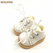 BEIOUFENG 3.8CM mode poupée chaussures pour Blythe poupée jouet, Mini chaussures de sport baskets pour poupées, BJD poupée chaussures chaussures de sport 6 paire