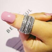 Bague de mariage de roue de luxe anneaux déternité pour les femmes fiançailles mariée gros doigt bijoux en gros R4797