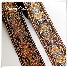 Tapis brodé pour ordinateur National 3yards/lot 5CM   Tapis de ruban de couture à la main, accessoires de bancs à bord décoratif pour bricolage