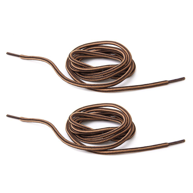 LGFM-1 pair 150 cm Durable High Resistance Laces for Hiking Shoes - Brown Coffee Stripes