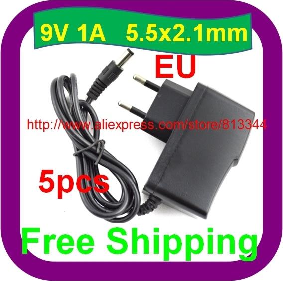 5 stücke Freies Verschiffen 9V1A AC/DC Power Adapter Für Arduino MEGA2560 DURCH UNO EU Ladegerät