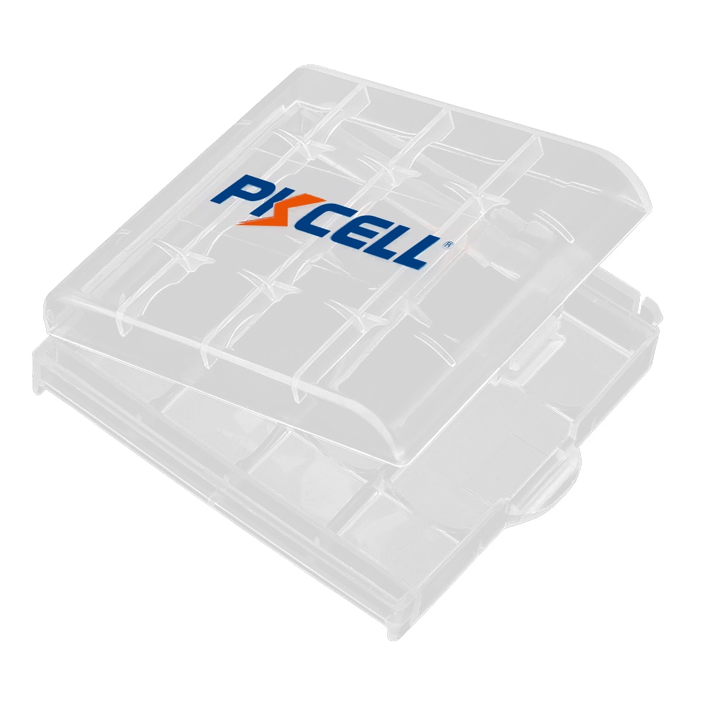 5 uds PKCELL funda porta baterías cajas portátiles de plástico para pilas alcalinas AA o AAA o batería recargable nimh