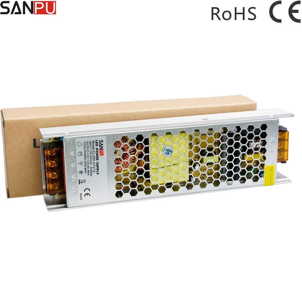 Mini fuente de alimentación LED de conmutación ewhd 12 V 25A 300W...