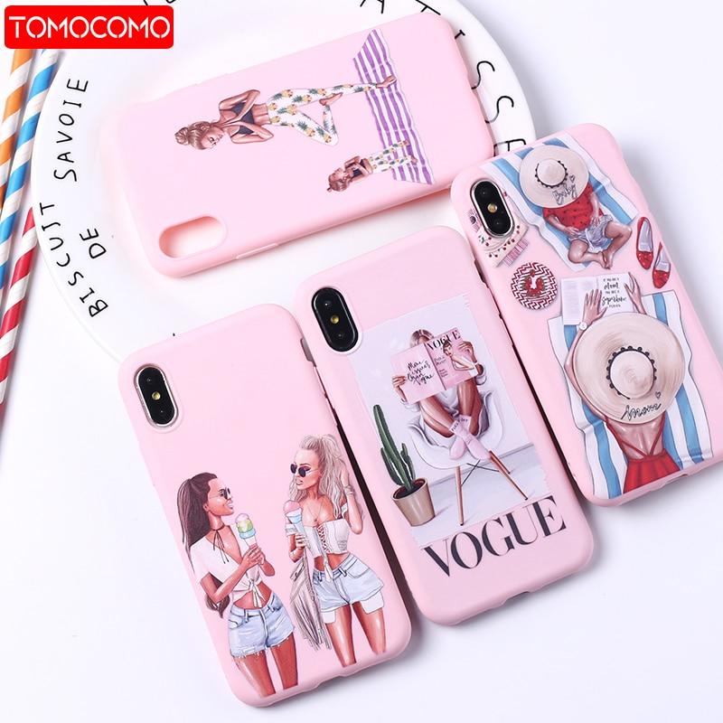Модный, стильный, стильный, Париж, для девушек, летний, дорожный, для мамы и ребенка, мягкий, силиконовый, конфетный чехол, чехол для iPhone 11 6 8 ...