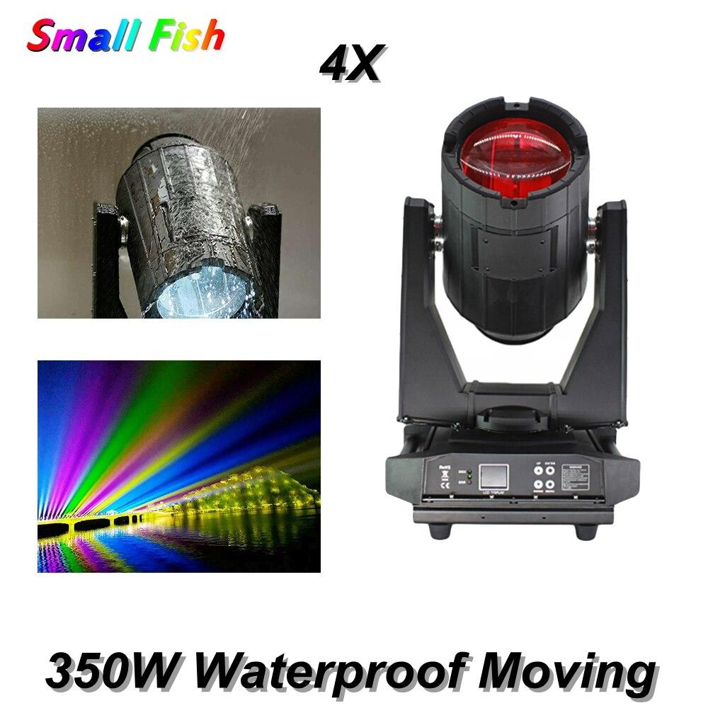 4 unids/lote 350W luz con cabezal móvil impermeable 14 colores + blanco DMX512 IP55 DJ Disco luz al aire libre impermeable etapa cabeza móvil
