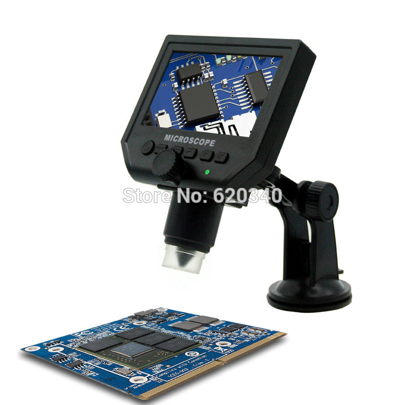 1-600X Portable video USB LCD Digital Mikroskop mit 4,3 zoll HD Oled-display für BGA Reballing Kostenloser versand