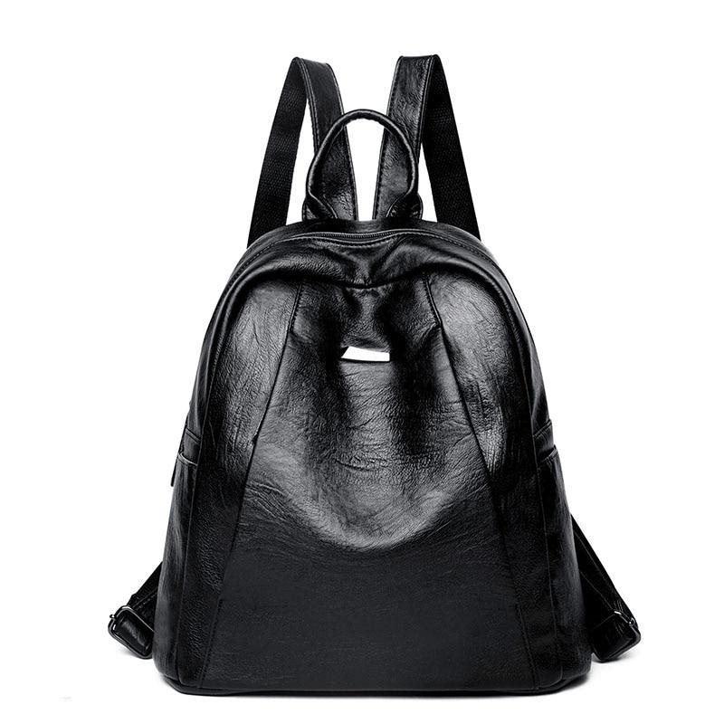 حقيبة ظهر عصرية للسيدات مصنوعة من جلد البولي يوريثان عالي الجودة ، حقيبة مدرسية للبنات ، حقيبة ظهر للسيدات ، Mochila Escolar