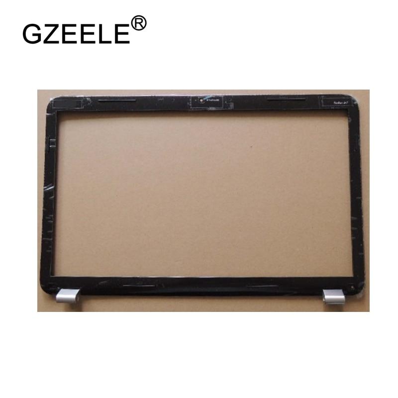 GZEELE utiliza la cubierta de la pantalla del bisel del LCD marco frontal para HP Pavilion DV7 DV7-6000 LCD bisel frontal 17,3 665592-001 negro