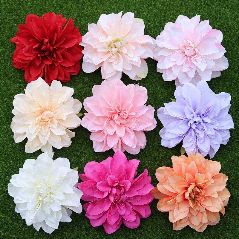 20 piezas de gama alta Dahlia simulación peonía flor cabeza casa DIY Pared de flores decoración para fiesta de boda flor falsa al por mayor