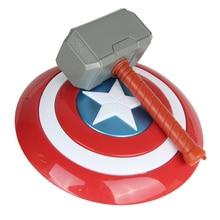 Avengers Endgame 32cm capitaine amérique bouclier Halloween Cosplay Prop 28cm Thor marteau modèle