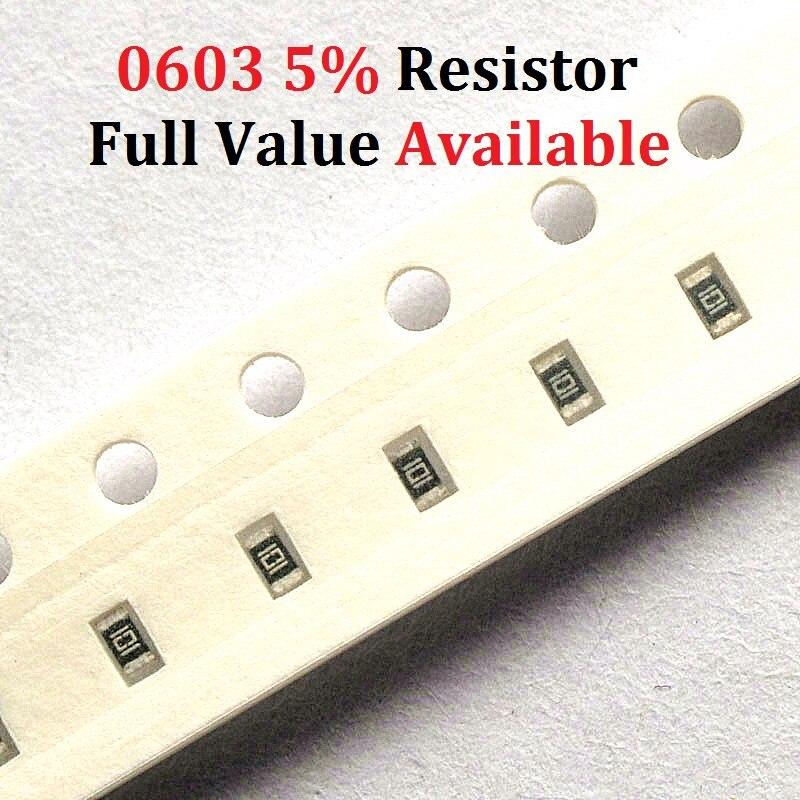 200 unids/lote resistencia SMD tipo chip 0603 68R/75R/82R/91R/100R de resistencia de 5%/68/75/82/91/100/Ohm resistencias K envío gratis