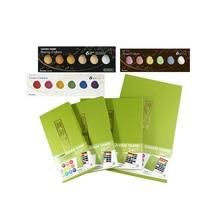 ZIG Kuretake pigment Gansai Tambi Watercolor Paint Starry/Pearl/Gem Colors Japanese Solid Pigment For Drawing Art Supplies