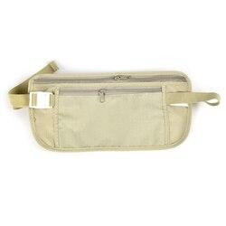 Mulheres lona fanny pacote viajar armazenamento zíper cintura bolsa dinheiro cintura cinto saco fino segredo de segurança bum fanny pacote