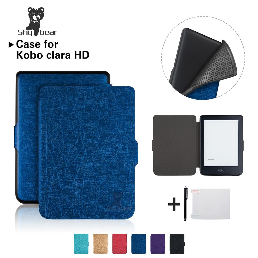 Funda para Kobo Clara HD de 6 pulgadas, funda de TPU Ereader, funda de Color sólido + regalo gratis