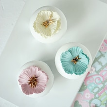 Décoration de gâteau gâteau dessert en argile   cupcake en fausse fleur, modèle de dessert, décoration pour accessoires de photographie de vitrines