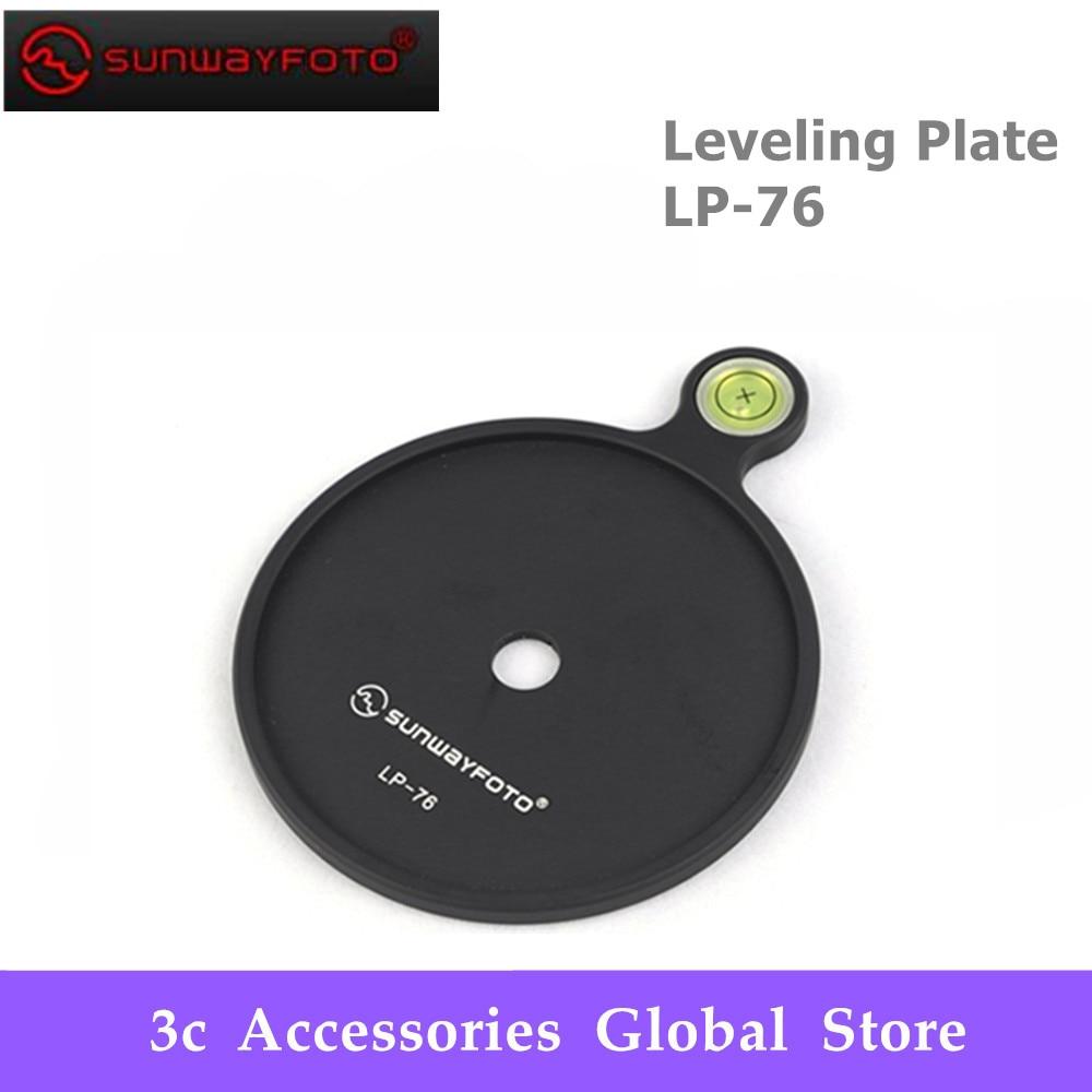 Sunwayfoto Nivelamento Placa LP-76 Add-on Offset Bolha Nível Placa 76mm de diâmetro para Tripé Headball