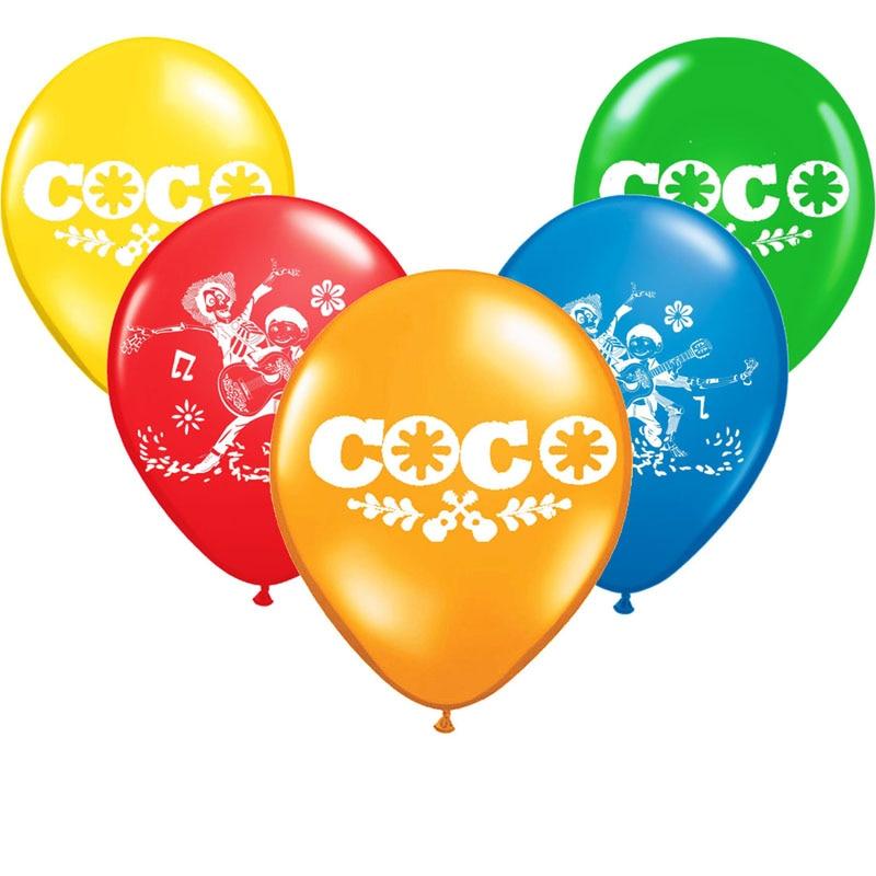Venta al por mayor 10 unids/lote Coco globo de látex de adornos de feliz cumpleaños Globos juguetes para niños celebración suministros Ballon