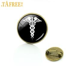 TAFREE RN MD docteur médecin assistant cadeau caducée médical symbole broches mode art silhouette broche broches bijoux T325
