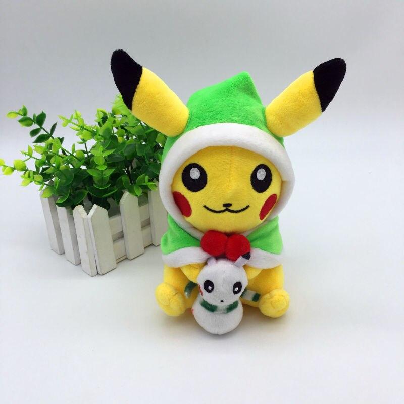 Nueva Cosplay Pikachu Juguetes para niños lindo kawaii muñeco Navidad regalo Juguetes Pikachu rellenos animales historieta del bebé/niño juguete