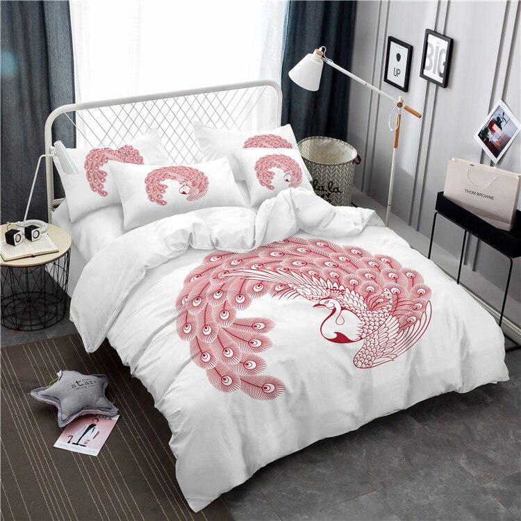 Jessy, juego de cama para el hogar, tamaño queen, juego de cama de pavo real conciso, ropa de cama de unicornio, triangulación de envío A4