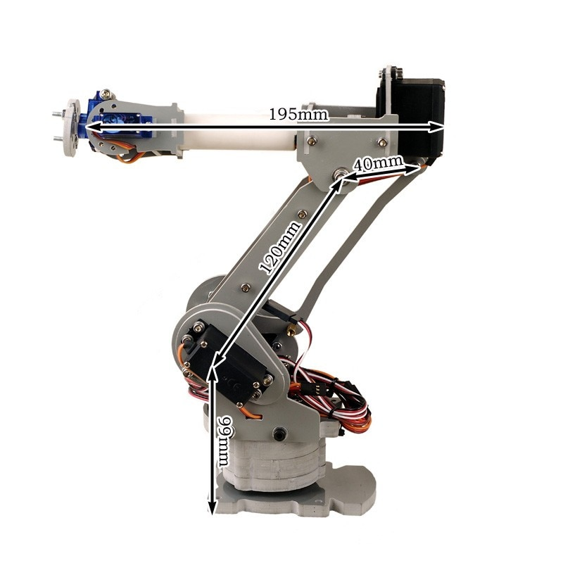 6DOF controlled 6-axis parallel-mechanism laser cut robot arm PalletPack industrial robot arm arduin