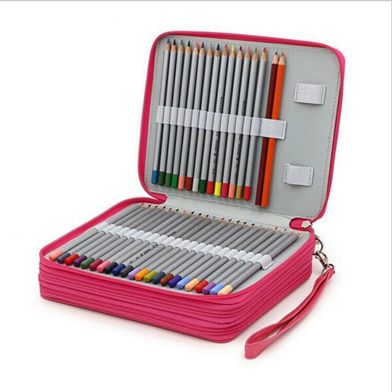Caja de lápices de 120 agujeros, suministros escolares, estojo escolar, kalem kutusu etui, estuches para lápices, estuche, caja, secreto