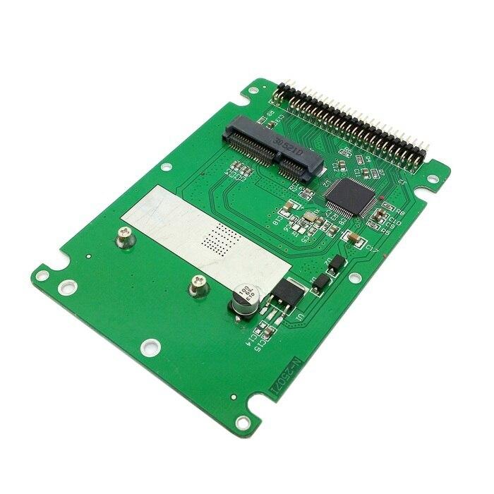 Cydz msata mini pci-e sata ssd para 2.5 polegadas ide 44pin notebook portátil disco rígido caso gabinete branco